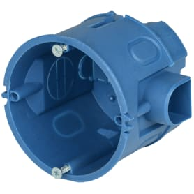 Коробка установочная одноместная IEK для твёрдых стен 68х60 мм цвет синий
