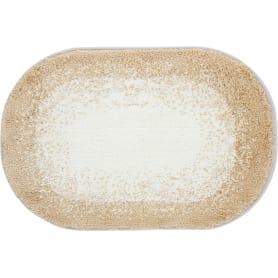 Коврик для ванной «Фокус» 60х90 см цвет бежевый