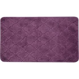 Коврик для ванной «Лана» 70х120 см цвет фиолетовый