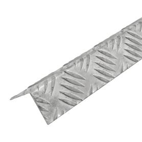 Уголок алюминиевый рифлёный 40х40х1.5 мм, 1 м, цвет серебро