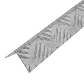 Уголок алюминиевый рифлёный 40х40х1.5 мм, 2 м, цвет серебро