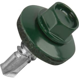 Саморезы кровельные Standers оцинкованные 5.5x19 мм RAL 6005 цвет зелёный, на вес