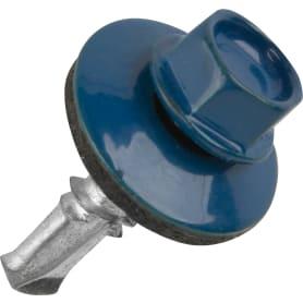 Саморезы кровельные Standers оцинкованные 5.5x19 мм цвет синий, на вес