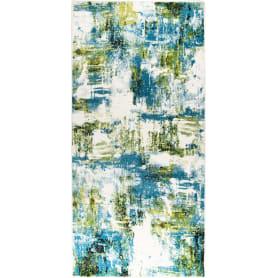 Ковёр «Bright» L016, 1x2 м, цвет голубой
