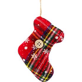 Украшение ёлочное «Носок рождественский», текстиль