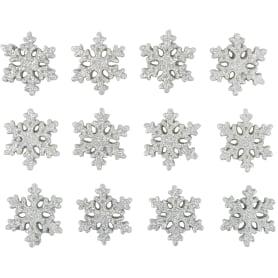 Набор украшений с клеевой основой «Снежинки», 3 см, 12 шт.