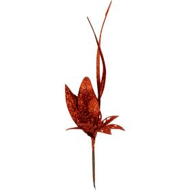 Украшение «Ветка» 22 см цвет красный