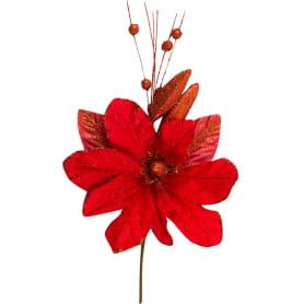 Украшение на спице «Цветок» 40 см цвет красный