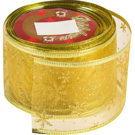 Лента упаковочная 65 мм х 2.7 м цвет золотой