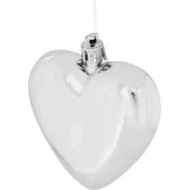 Набор ёлочных шаров, 6 см, пластик, цвет серебро, 3 шт.