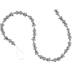 Гирлянда, 140 см, пластик, цвет серебро