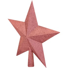Верхушка для ёлки «Звезда», 23 см, цвет розовый
