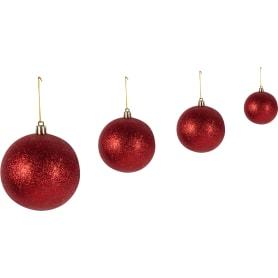 Набор ёлочных шаров 3-8 см цвет красный/золото, 46 шт.
