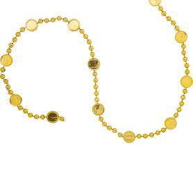 Гирлянда пластиковая 180 см цвет золото