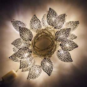 Электрогирлянда светодиодная «Листья» для дома 20 ламп 2.85 м, цвет тёплый белый