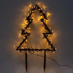 Электрогирлянда-фигура светодиодная «Ёлка» для улицы 140 ламп, цвет тёплый белый