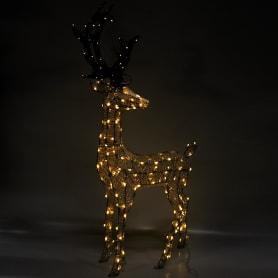Электрогирлянда-фигура светодиодная «Олень» для улицы 200 ламп, цвет тёплый белый