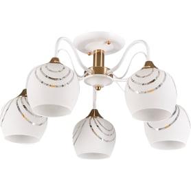 Люстра потолочная Element «Katy» 1252/5C, 5 ламп, 15 м², цвет белый/золотой