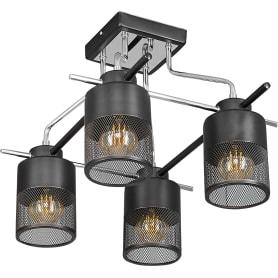 Люстра потолочная Element «Mudi» 2345/4C, 4 лампы, 16 м², цвет чёрный/хром