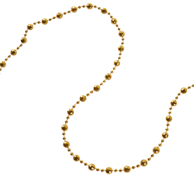 Гирлянда «Бусы» 270 см цвет золотой
