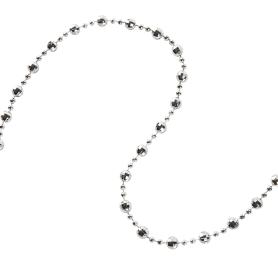 Гирлянда «Бусы» 270 см цвет серебристый