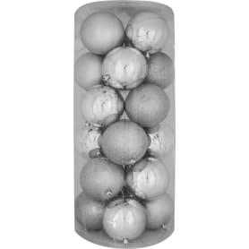 Набор ёлочных шаров 10 см цвет серебро, 24 шт.