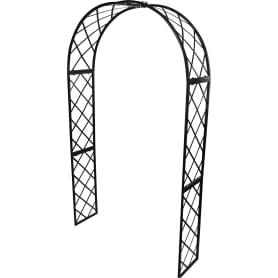 Арка садовая «Готика», 232х125х35 см, сталь, цвет чёрный