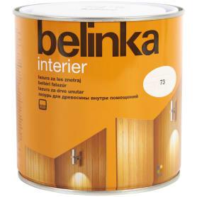 Покрытие защитно-декоративное для дерева Belinka Interier цвет белый 0.75 л