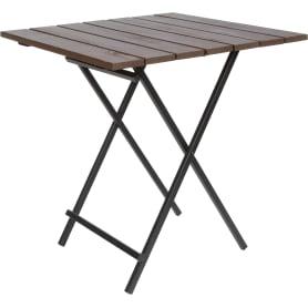 Стол садовый складной Ego 166-8, 70х70х74.5 см, массив сосны/сталь
