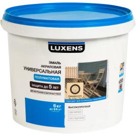 Эмаль универсальная Luxens полуматовая цвет слоновая кость 6 кг