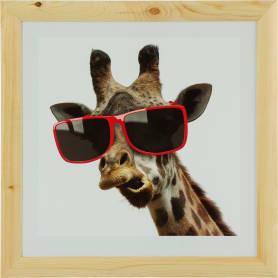 Постер в раме 40х40 см «Жираф в очках»