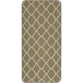 Коврик «Cardiff», 67x140 см, полипропилен/резина, цвет коричневый