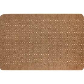 Коврик «Stanford», 50x80 см, полипропилен, цвет каштановый/светло-серый