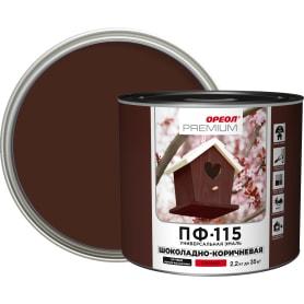 Эмаль Ореол Premium ПФ-115 глянцевая цвет шоколадно-коричневый 2.2 кг