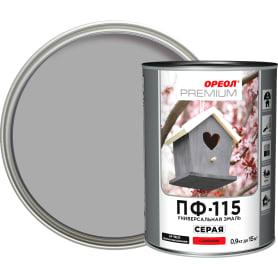 Эмаль Ореол Premium ПФ-115 глянцевая цвет серый 0.9 кг