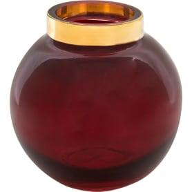 Ваза «Токио» 3, стекло, цвет красный радужный