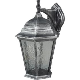 Светильник настенный уличный Genova 75 Вт IP44 цвет чёрный/серый