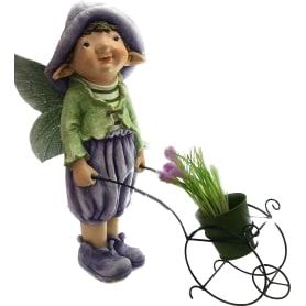 Фигура садовая «Мальчик-эльф с тачкой» высота 55 см