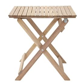 Стол садовый квадратный Naterial Solis Origami складной 50x50х50 см акация светло-коричневый