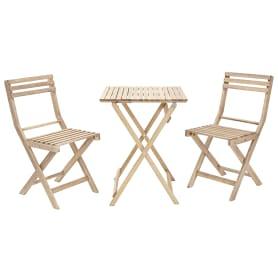 Набор садовой мебели Naterial Origami складной акация: стол и 2 стула