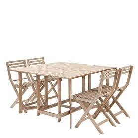 Набор садовой мебели Naterial Origami складной акация: стол и 4 стула
