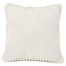 Подушка декоративная Плюш 40х40 см бело-серая
