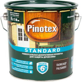 Пропитка Pinotex Standard цвет палисандр 2.7 л