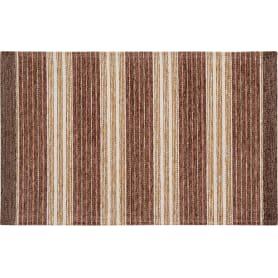 Коврик «Сабрина 184», 55x85 см, шенилл, цвет коричневый