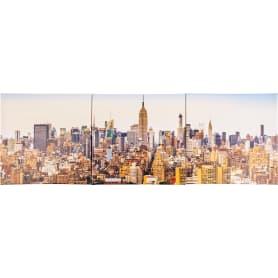 Мультимодуль на холсте «Нью-Йорк» 111х37 см