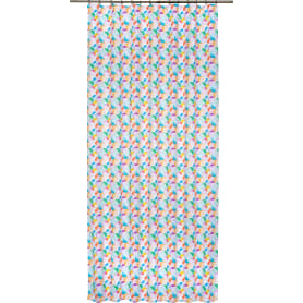 Штора на ленте «Акварель Круги», 160х260 см, геометрия