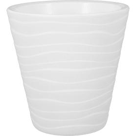 Кашпо цветочное «Валенсия», D12, 2л. пластик, Белый