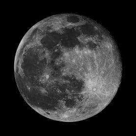 Картина на стекле «Луна» 30х30 см