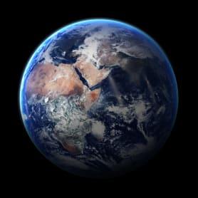 Картина на стекле «Земля» 30х30 см