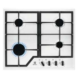 Варочная панель газовая Electrolux GPE263MW, 4 конфорки, цвет белый